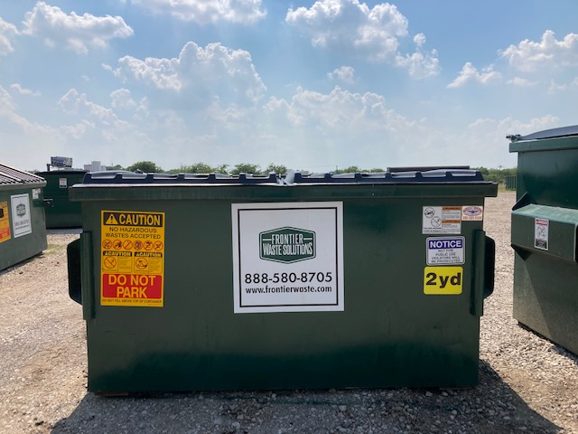 2-yard dumpster for business trash pickup and disposal service