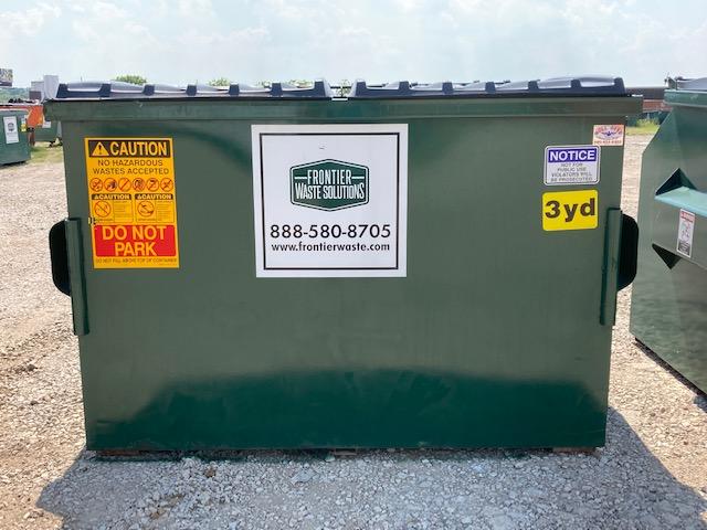 3-yard dumpster for commercial trash pickup