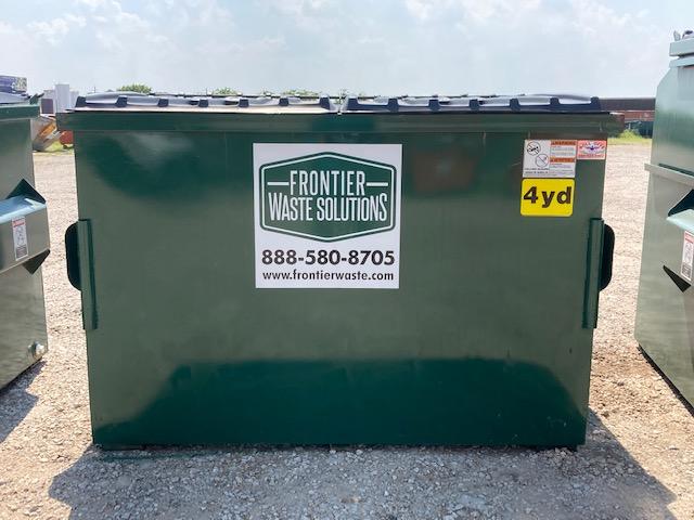 4-yard dumpster for business waste disposal