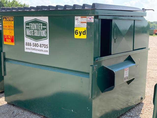 6 yard dumpster for commercial trash pickup